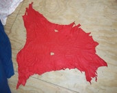 Real Red deer buckskin animal leather hide tanned taxidermy man cave craft part piece
