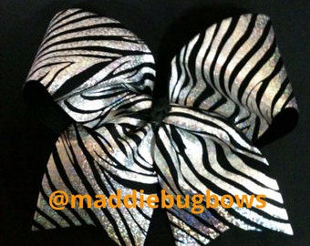 Zebra Cheer Bow