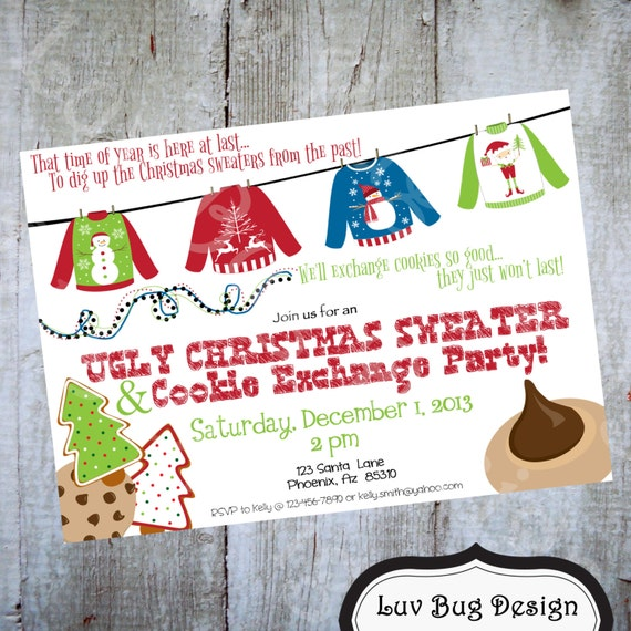 make your own christmas party invite pdf