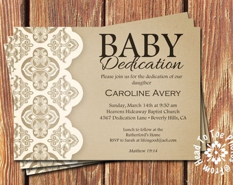 Baby Dedication Invitations