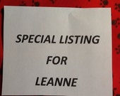 Special Listing for Leanne