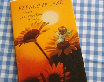 friendshipland - a visit to a happy state of mind, vintage 1973 mini children's book