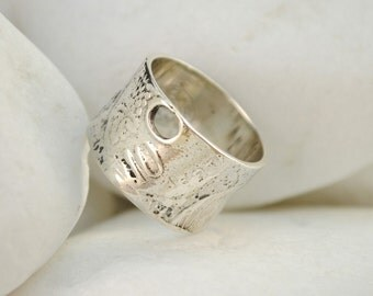Greek Pennies Cents Coin Band Ring, Handmade, Solid Sterling Silver