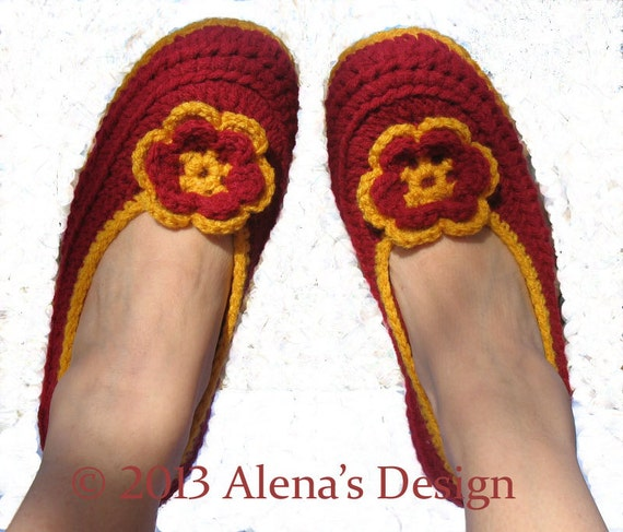 Crochet Pattern 074 - Womens Slippers - Amy includes seven sizes Teen Ladies Women Unisex Adult Shoes Boots Slippers Crochet Pattern Booties