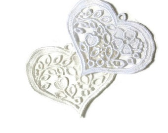 Floral Lace Heart (large), Excellant for Wedding or Bridal Favors