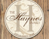 Personalized Family Name Sign, Family Established Sign, Last Name Sign, Wall Art with Established Date & Monogram