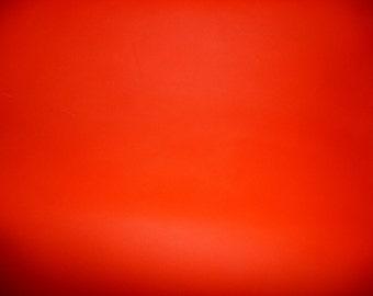 "Leather 8""x10"" NEON Blaze Orange COWHIDE 3.5 oz / 1.4 mm PeggySueAlso™"