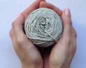 Cotton yarn, hand dyed yarn, stone, light grey, double knit DK *SALE 25% OFF*