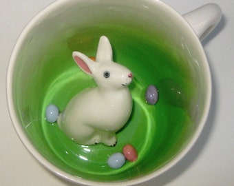 Easter Rabbit Surprise Mug (Made to Order)