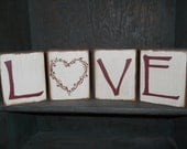 Love, Love letters, Love blocks, Valentine's Day