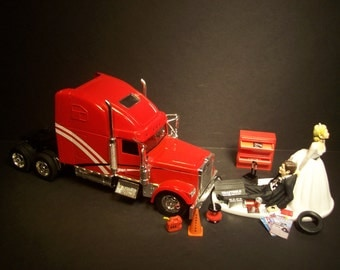 semi truck wedding cake toppers popular items for auto mechanic on etsy 19742
