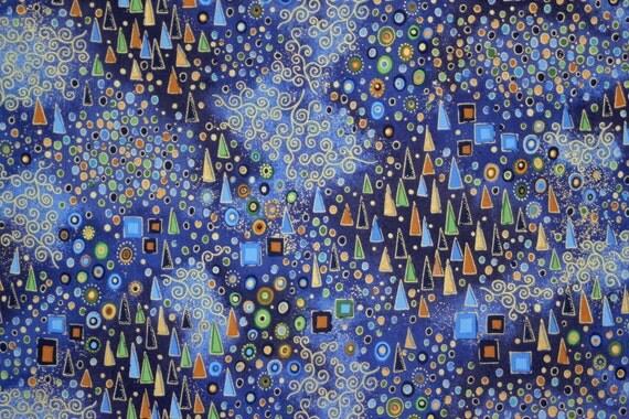 Blue Quilt Fabric Quilting Fabric Cascade Blue
