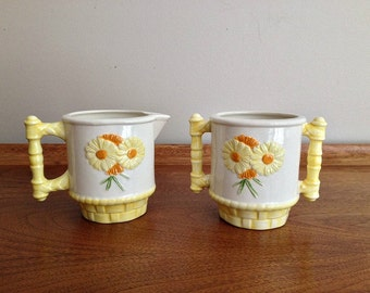Daisy Ceramic Cream and Sugar Set