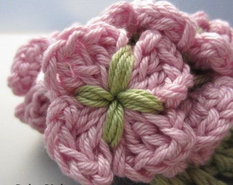 Crocheted Flower Posy - Baby Pink