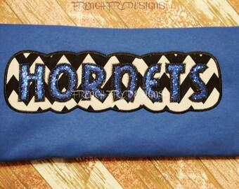 School Pride HORNETS Applique Shirt Customized