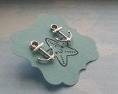 Anchor Earrings studs posts - Nautical jewelry - OhanaSisters