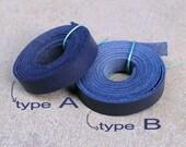 Dark Navy Blue Cowhide Lace Strap, Genuine Leather Strap, 1 Yard (900X10mm) -Pick A or B