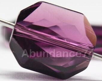 4 pcs Genuine Swarovski Crystal 5520 12mm Graphic Bead - AMETHYST