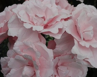 Pink paper peonies, set of 12 hand made paper flowers, wedding flowers, unique design