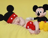 Crochet Mickey Mouse Hat - Infant, Toddler, Child, Teen/Adult