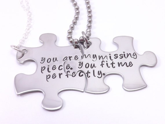 Personalize Your Own His And Her Puzzle Piece By