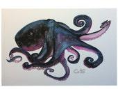 Cosmic Octopus Galactipus Giclee Fine Art Print