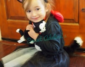 Figaro Minnie Black and White Cat Tutu Costume with Fluffy Posable Tail