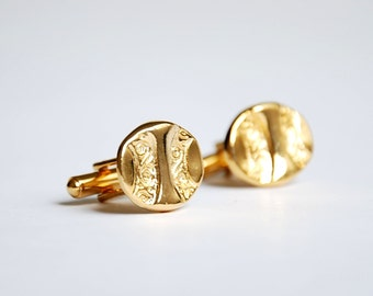 Vintage Cufflinks -  Gold Plated -  Great gift