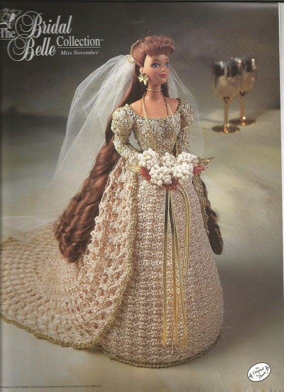 Crochet Patterns Doll Clothes : Crochet Pattern Crochet Barbie Doll Clothes Bridal Belle Collection