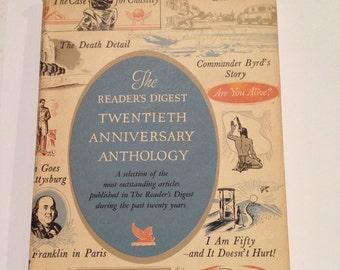 Vintage Book, 1941 book, The Reader's Digest, Twentieth Anniversary ,Anthology