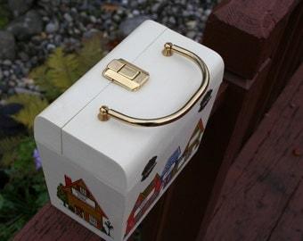 Box Purse Vintage Cream Color Celluloid Plastic