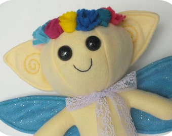 Pale Yellow Fairy with Flower Crown
