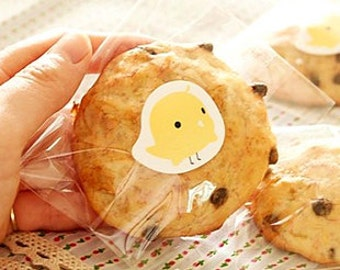 Yellow Chick Seal Stickers for Wrapping and Packaging: 10 Pieces