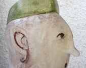 Sculpture bust woman QUEEN ceramic // modern artwork by Elisaveta Sivas