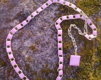 80s pink squares enamel waist / hip belt