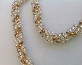 Bead woven spiral rope Bracelet bead weaving handmade jewelry
