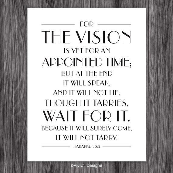Habakkuk 2 3 The Vision 8x10 Diy Printable By Amenprintables