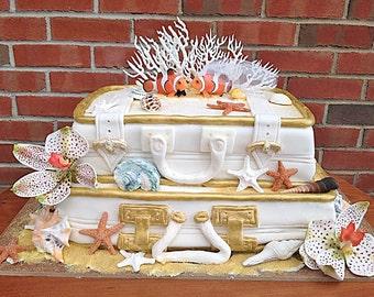 Clown Fish Cake Topper-Beach-bride-groom-Mr and Mrs- Themed Cake Topper-Beach Wedding-Destination wedding-Fish Wedding cake topper