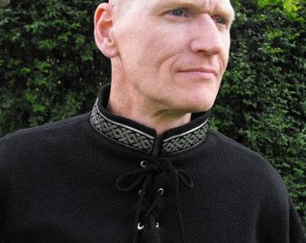 Legendary Men's Fleece Gawain Tunic Top in Forest Green - Large, Merlot - Large or Black - XL