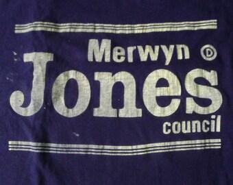 Vintage Merwyn Jones Council T-Shirt