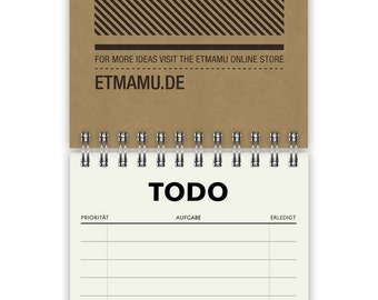 Todo List Simple A6 60 Pages