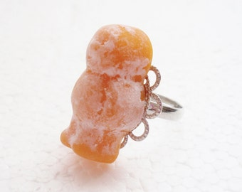 Jelly Baby Ring. Polymer Clay.