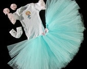 "Reborn Tutu Set Hand Made Four Piece ""Princess Tutu Set"" for 18""-24"" Reborns Mermaid and Shells"