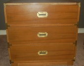 Free NYC Area Delivery Vintage Drexel 3-Drawer Campaigner Dresser / Chest