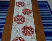 Table runner, silk obi, traditional Christmas colours. - sugoi07