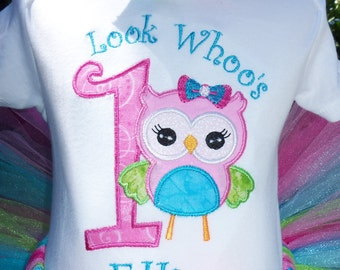 Look Whoo's One Sweet Owl Birthday Shirt-SHIRT ONLY