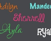 DIY Names Decals for tumblers, buckets, etc.