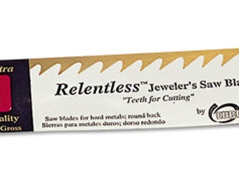 RELENTLESS 4/0 Jewelers SAWBLADE  - Flexible Blade for Cutting Gold, Silver and Other Metals - 1 Dozen Metal Sawing Tool Jewelry Tool Blades