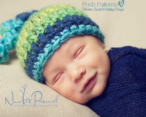 Crochet PATTERN - Top Knot Baby Hat Pattern - Crochet Hat ...