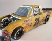Scale Model Truck, Yellow  Decals,  Classicwrecks Model,Race Car,Ford Truck